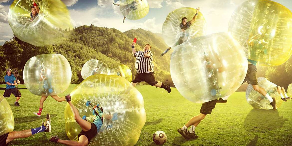 Socially Distant Bubble Soccer!