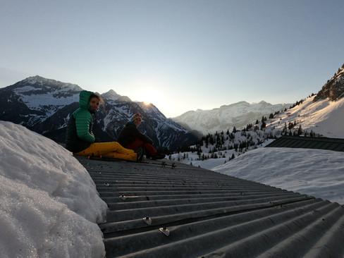 Levé du soleil en Vanoise