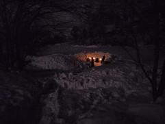 Campement nuit en igloo