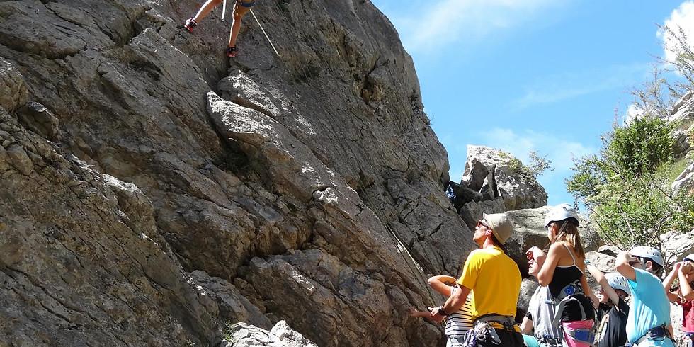 Journée initiation escalade en falaise