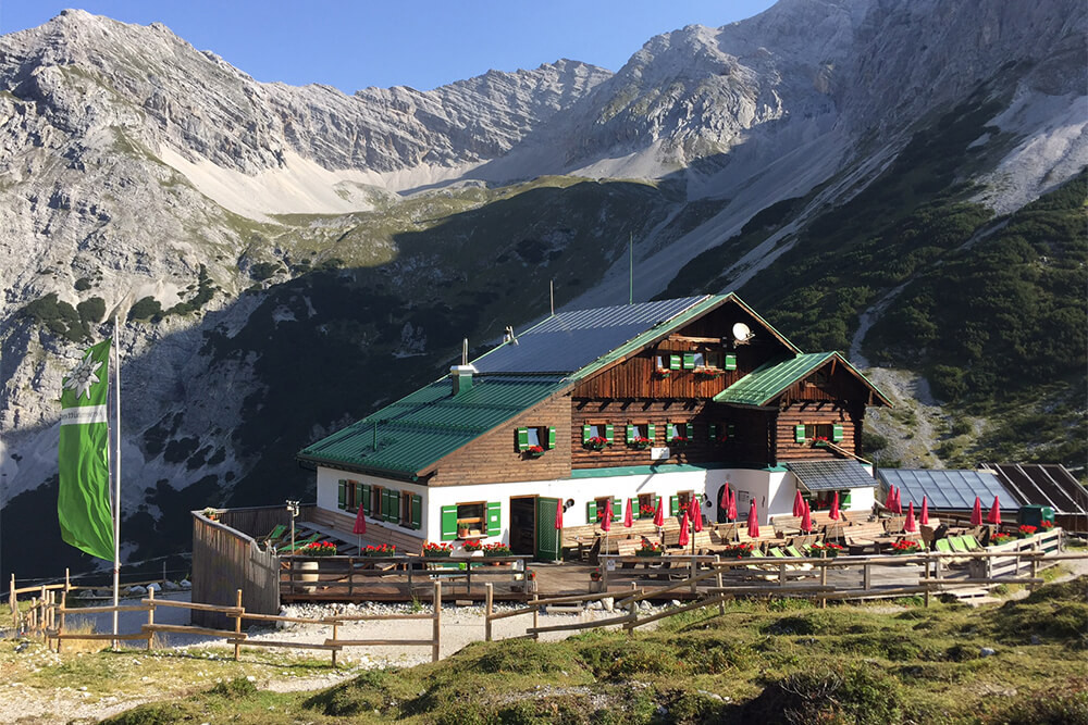 Randonnée refuge karwendel höhenweg