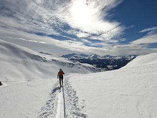 Découvrez cette activité et chaussez vos skis de randonnée pour la première fois, sur un parcours accessible, avec une descente facile à ski pour rejoindre un sommet et s'offrir une belle descente, en hiver comme au printemps !