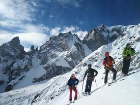 Ski glacier de la Brenva