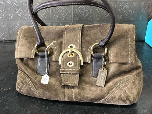 Brown Suede Coach