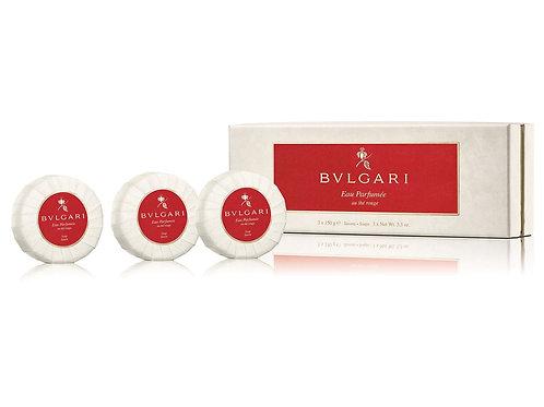 Bvlgari - Eau Parfumée au Thé Rouge Set Saponi 3x150g.