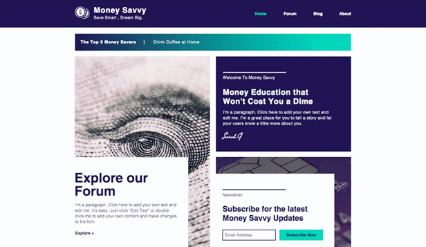 Ondernemen en marketing website templates – Forum over geld besparen