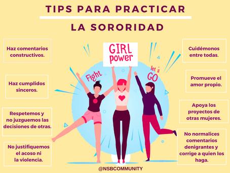Tips para practicar la sororidad