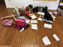 Writing on the floor