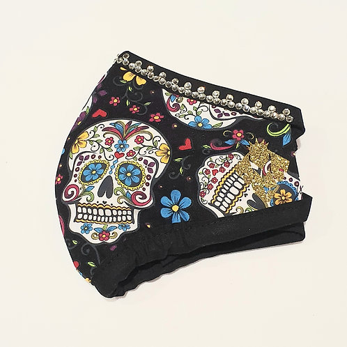 Medium - Skulls Bling (Fabric Ties)