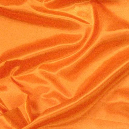 Orange Satin Shoe Bag