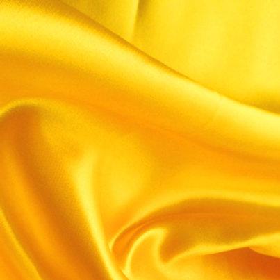Yellow Satin Shoe Bag