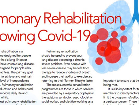 Recovering From Covid-19 - Pulmonary Rehab