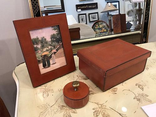 Ralph Lauren Leather Desk Set