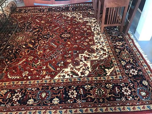 10'x13' Wool Handmade Indian Rug