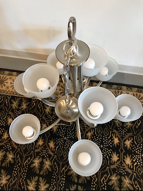 Satin Nickel Chandelier by Seagull Lighting