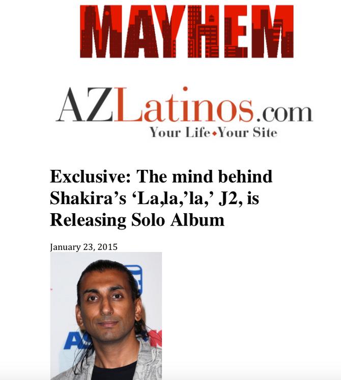 Exclusive: The mind behind Shakira's 'La,la,'la,' J2, is Releasing Solo Album