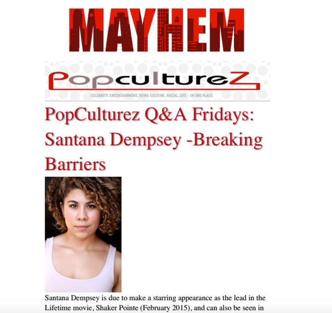 Pop Culturez: Santana Dempsey