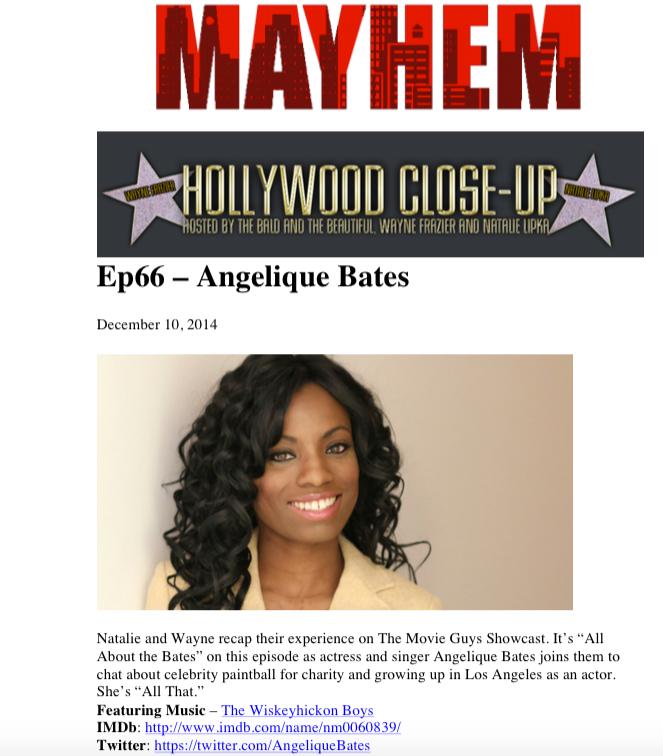 Hollywood Close Up: Angelique Bates