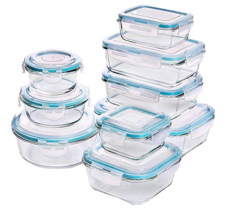 Glass lock food storage containers_Plastic free_Kay Ali hormone specialist recommendation