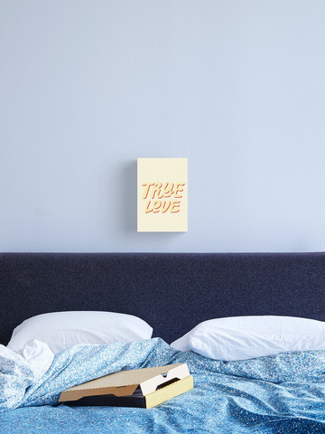 True Love canvas wall art by Kay Ali in soft yellow