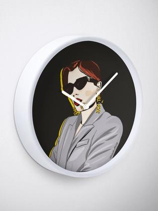 Female Power Chic Clock by Kay Ali