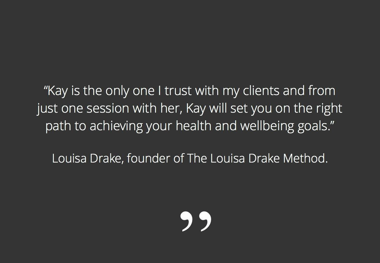 Louisa Drake testimonial