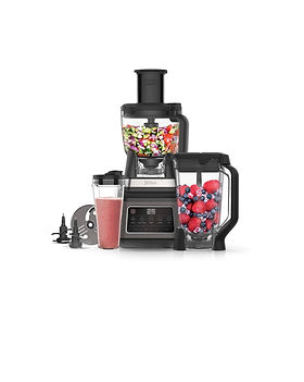 A food processor, multi-serve blender and personal blender all in one.