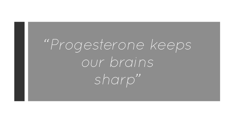 You Need A Nutritional Therapist London clinic. Quote from Kay Ali, hormone and mental health specialist about progesterone and mental health