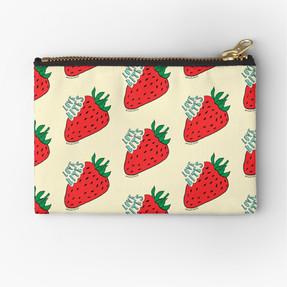 Strawberry Love Bites pouch by Kay Ali