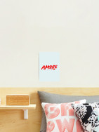 Amore Photographic wall art print in blue by Kay Ali