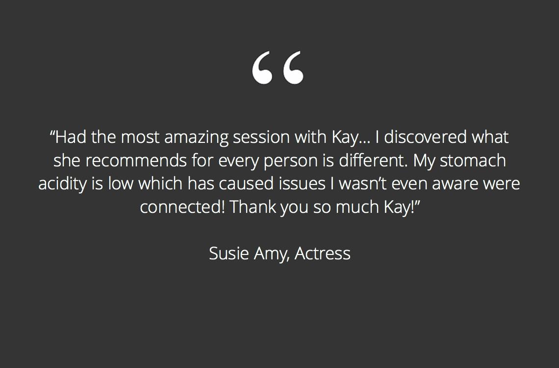 Susie Amy testimonial