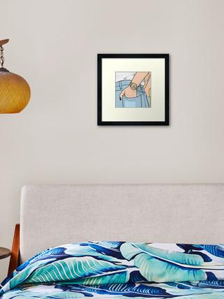 Mindfulness 'Here & Now' Framed Print