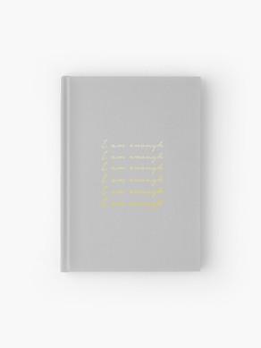 I am enough grey mindfulness journal