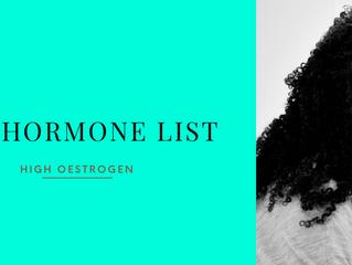 The Hormone List: Symptoms of Oestrogen Dominance