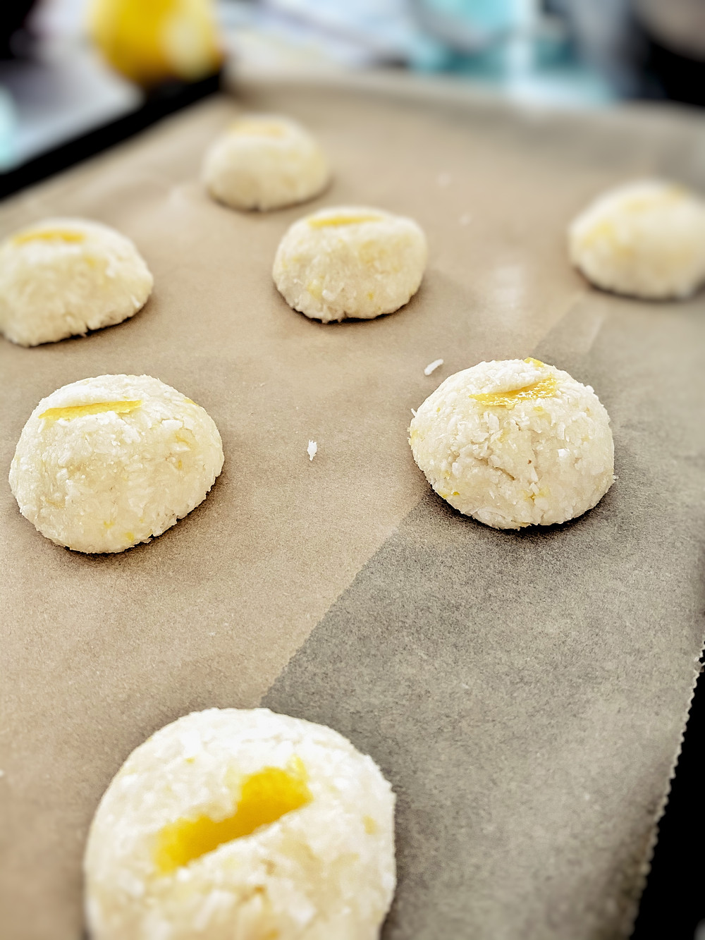 Keto and vegan friendly lemon macaroon treat by Hormone specialist and nutritionist Kay Ali