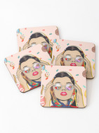 Candy coasters - Women's time of the month print by Kay Ali