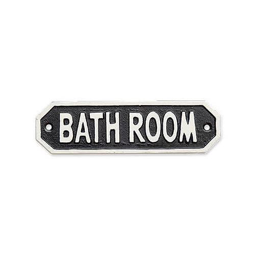 サインプレート BATH ROOM ブラック