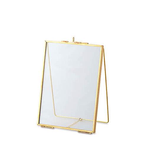 ガラスフレーム スタンドシングル ゴールド