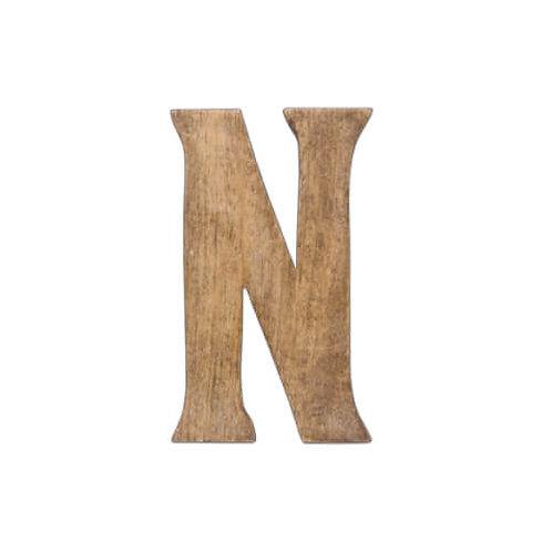 ウッデンアルファベット N