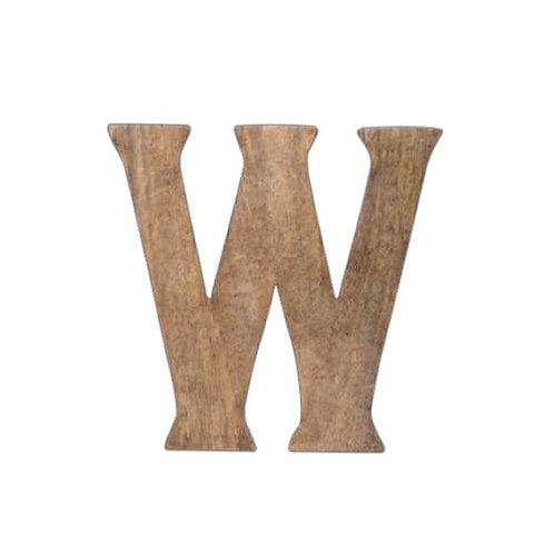 ウッデンアルファベット W