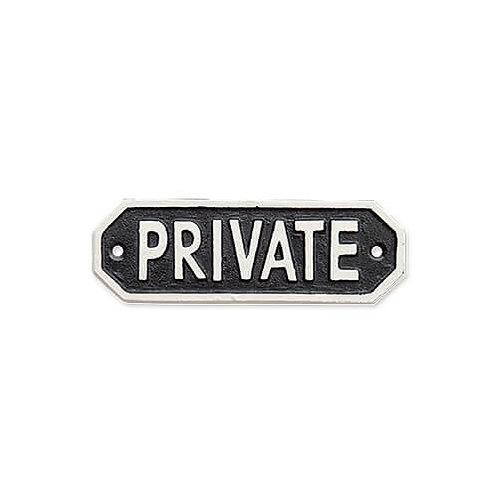 サインプレート PRIVATE ブラック
