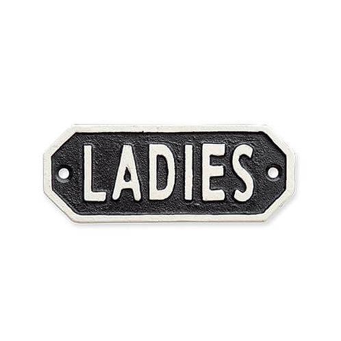 サインプレート LADIES ブラック