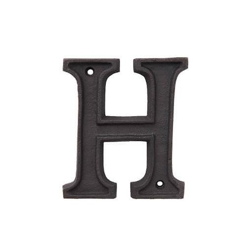 アルミアルファベット H