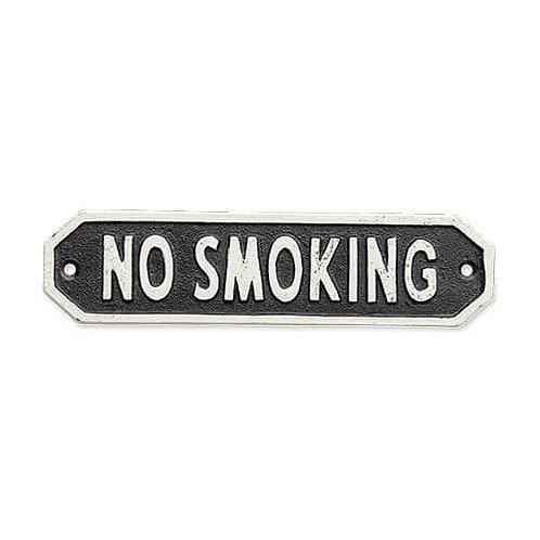 サインプレート NO SMOKING ブラック