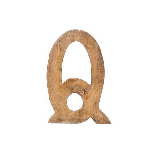 ウッデンアルファベット Q