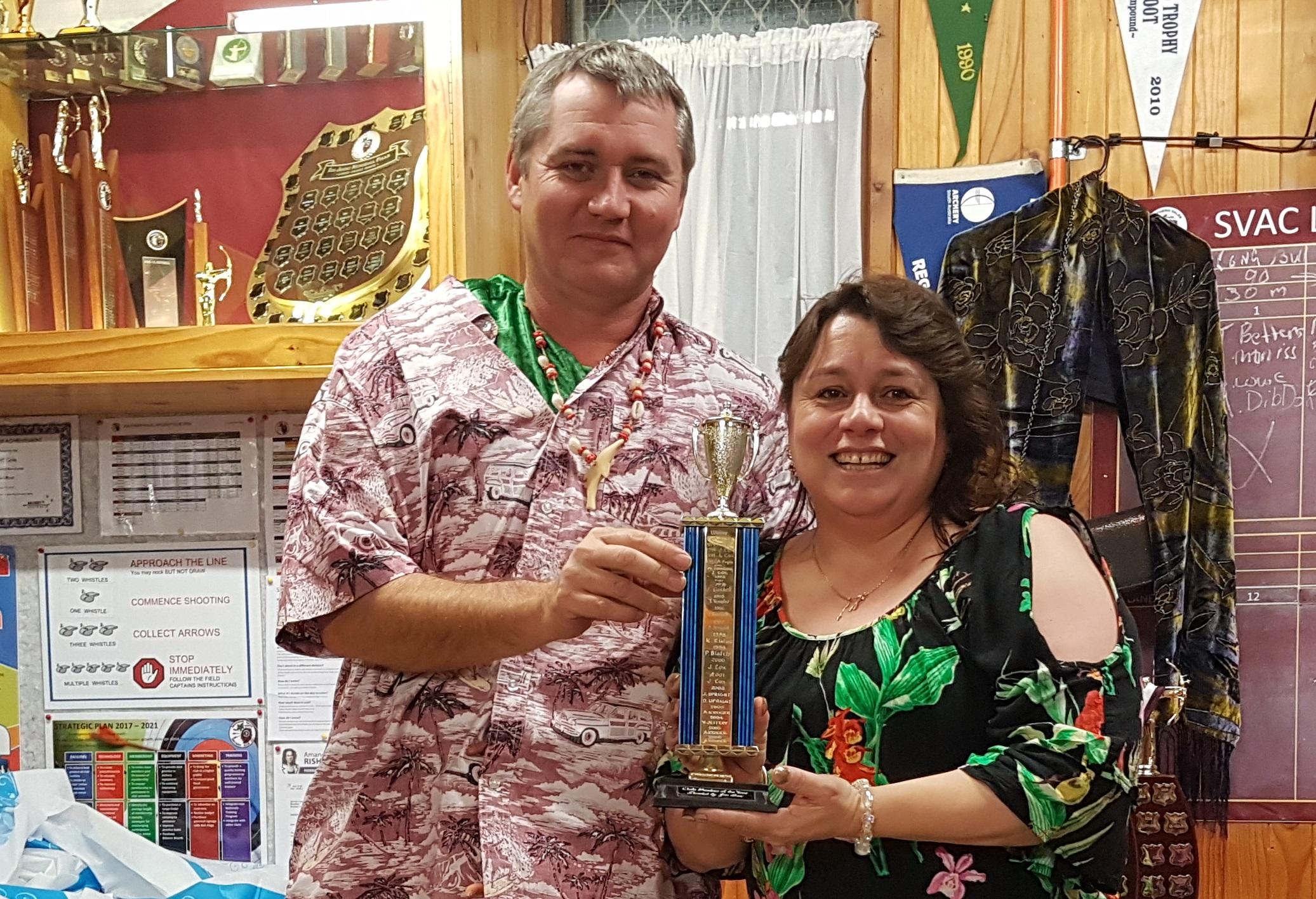 Club Members of the Year Tanya and Paul