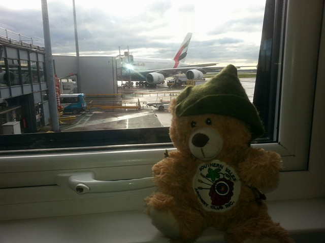 15 At Manchester Airport checking out my big ride home