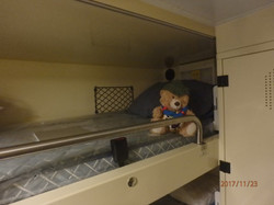 2 Checking out her bunk