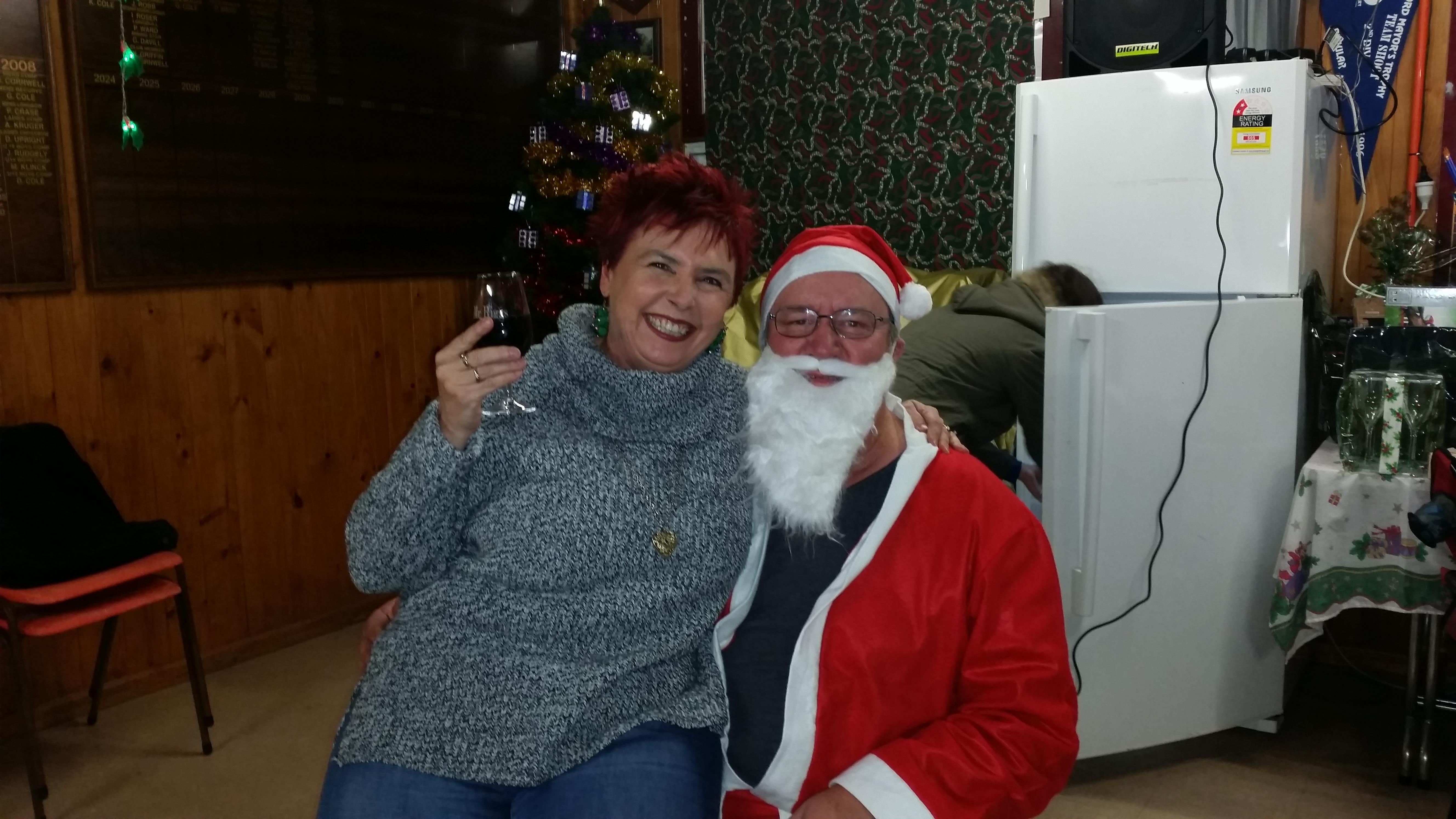 Trish and Santa