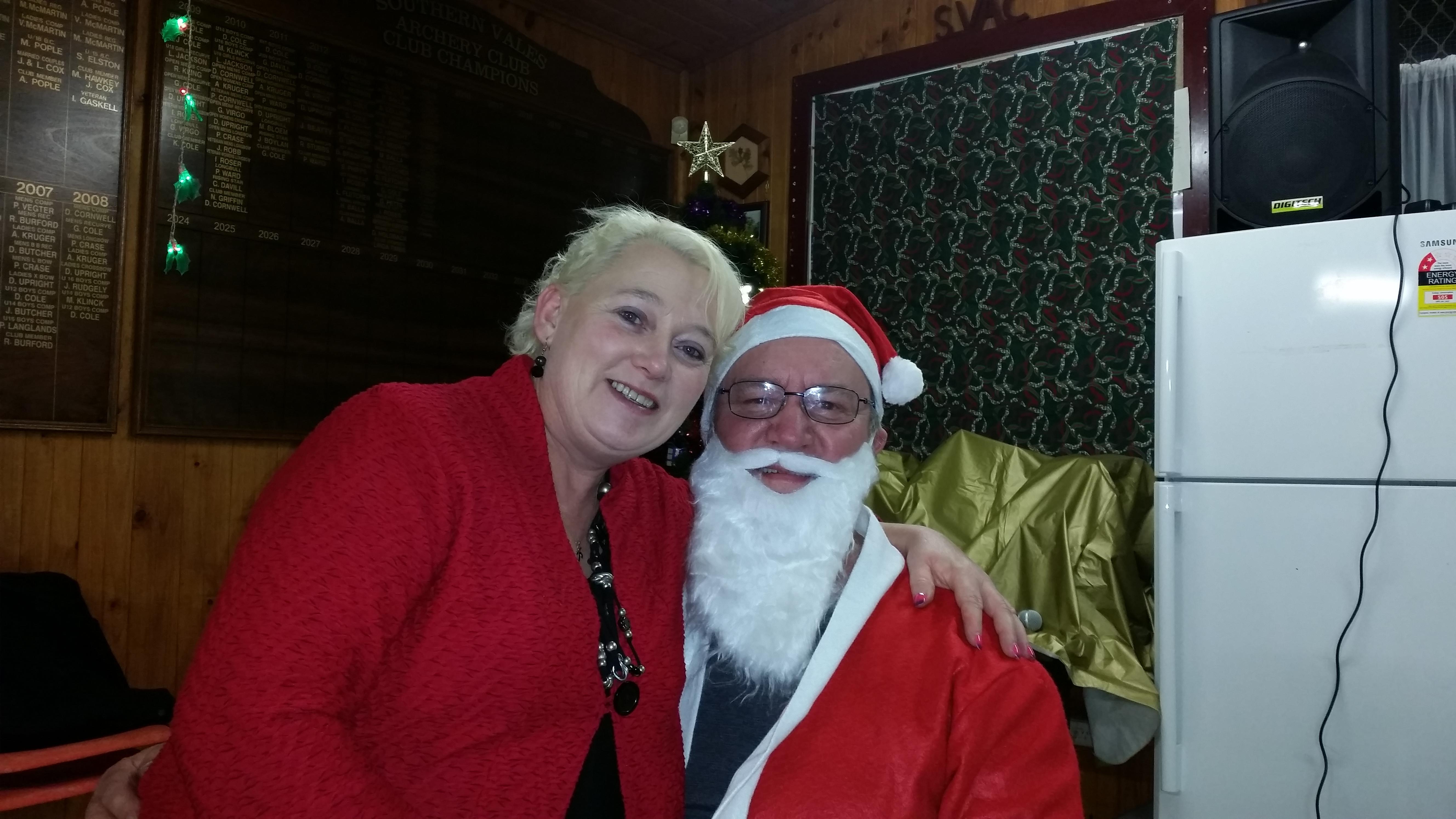 Kym and Santa